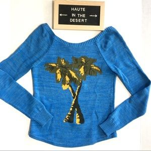 Urban Outfitters Cooperative palm tree sweater XS